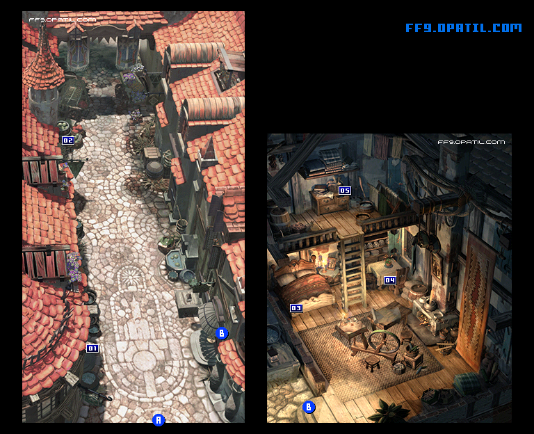 Alexandria Town Map : FF9 All Location Maps - FF9