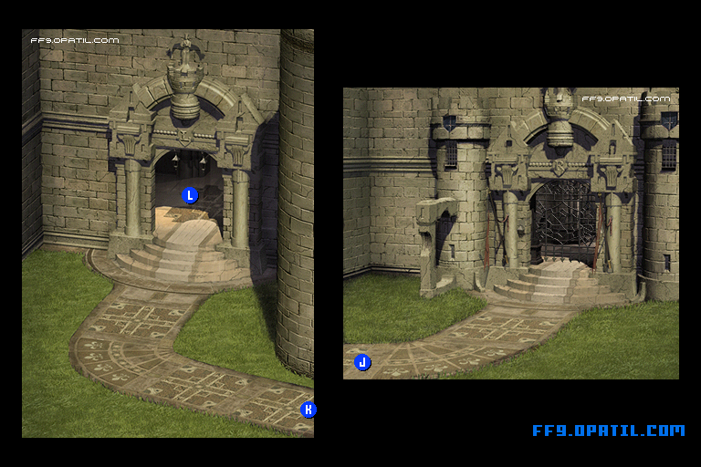 Alexandria Castle Map : FF9 All Location Maps - FF9