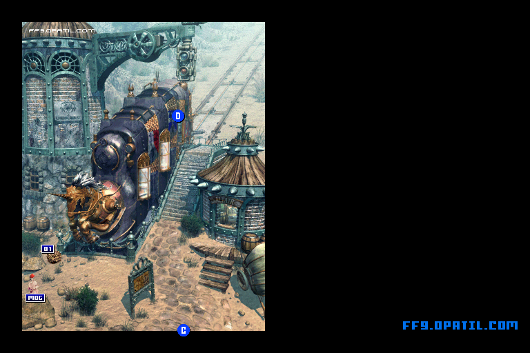 South Gate - Bohden Gate Map : FF9 All Location Maps - FF9